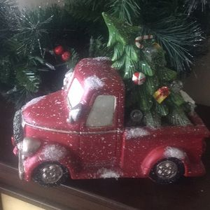 Lighted Country Vintage Red Truck Christmas Tree